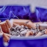com-four® 3X Aschenbecher aus Glas - klarer Glasaschenbecher für Zigaretten - Ascher für Privat und Gastronomie - aus 5 mm dickem, Buntem Glas (03 Stück - bunt) - 7