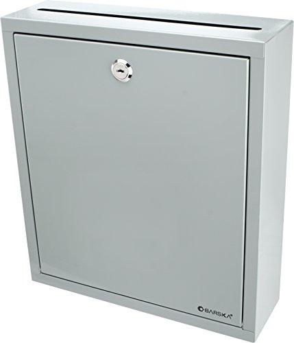 Barska CB12712 Large Multi-Purpose Drop Suggestion Mail Box,Grey