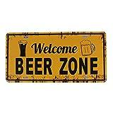 iTemer 1 Unidades Creativo Retro Cartel de Metal café Cerveza Restaurante Bar decoración Papel Pintado Etiqueta de Metal 30cm*15cm D
