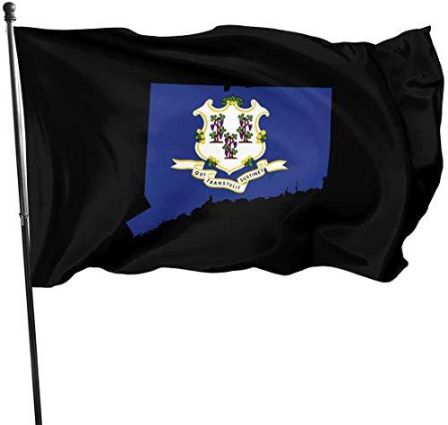 Viplili 10 Dinge Connecticut Macht Besser als unsere Nachbarstaaten Hausgarten Flagge für Haus Veranda im Freien Willkommen Urlaub Dekoration, Fit Weihnachten/Geburtstag/Happy New, 3x5ft