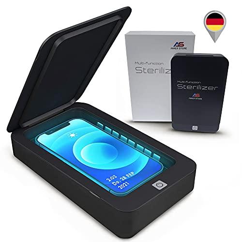 UV Sterilisator - Tragbare UV-Licht-Smartphone-Sterilisationsbox - Desinfektionsfunktion mit Aromatherapie-Funktionen - Reinigungsbox für Masken, Uhren, Schmuck, Schlüssel, Schnuller.
