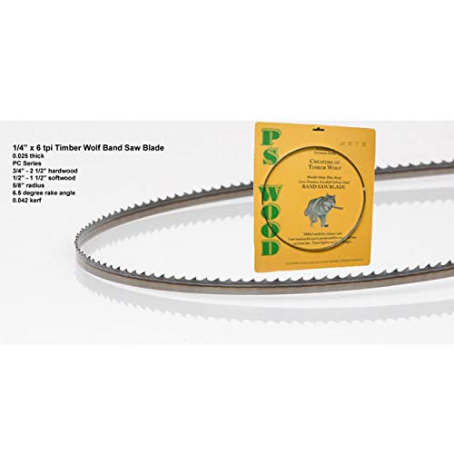 Product Image of the Timber Wolf Bandsaw Blade 1/4' x 93-1/2', 6 TPI
