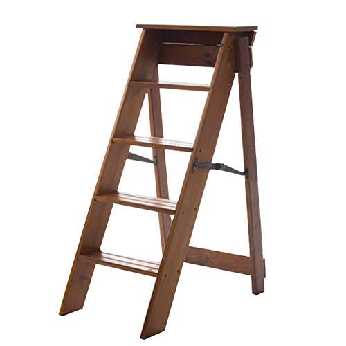 ZENFAI Tabouret D'échelle Chaise D'escalier Escabeau Pliant Capacité De Charge Élevée Durable Outils D'escalade Bibliothèque, 3 Couleurs (Couleur : A, taille : 34x59x87cm)