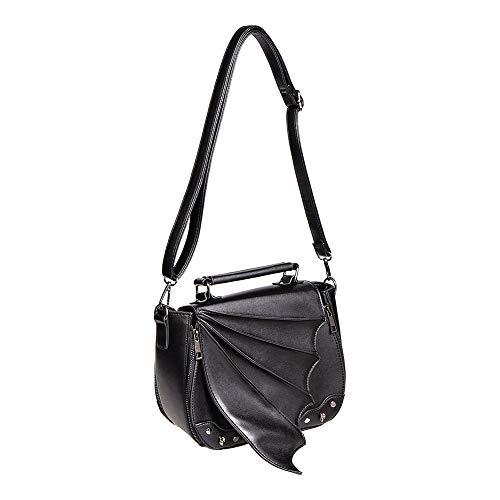 Bolso bandolera negro ala murciélago extensible Gwendolyn bag BG34029 Banned
