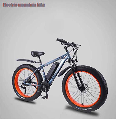 Fangfang Electric Bikes, Adult Mens Electric Mountain Bike, 350W Beach Snow Bikes, 36V 8AH Lithium Battery, Aluminum Alloy Off-Road Bicycle, 26 Inch Wheels,E-Bike (Color : A, Size : 27 speed)