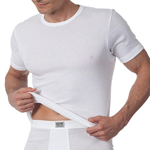 Kumpf 2X Herren Unterhemd 1/2 Arm Rundhals hochgeschlossen Swiss Cotton feinste Teilung 2000151 Weiss