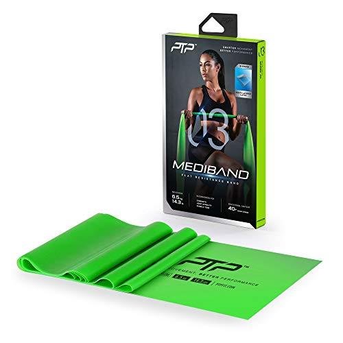 PTP Unisex– Erwachsene Medi Fitness Bänder, grün, 150 x 15 cm