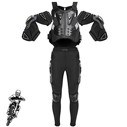 TZTED Course Gilet Anti-Chute Veste Moto Garde Corps de Vestes Corps Vêtements de Protection de Sport pour Le Vélo Ou La Moto, Compétition de Cross-Country,Noir,M