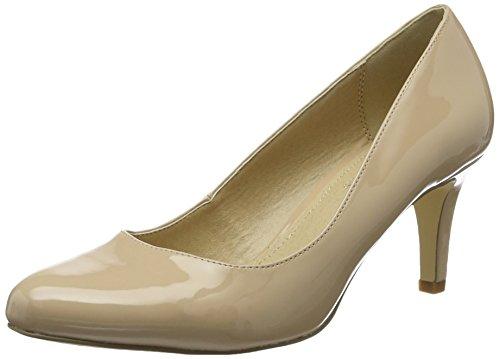 Buffalo Shoes Damen C404A-1 P2010F PU PATENT Pumps, Beige (BEIGE 01), 39 EU