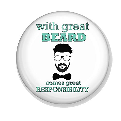 Gifts & Gadgets Co. Mit Great Beard Comes Great Responsibility Badge 58mm Button Reverspin