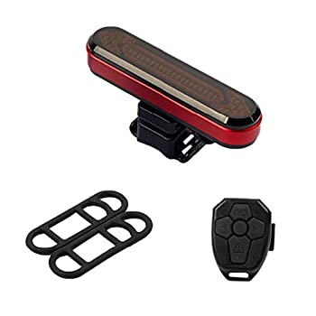 Bicycle Taillight Riding Bike Tail Light Wireless Remote Control LED Cycle Turn Signal LED Light White