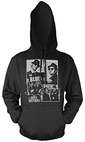 Uglyshirt89 Blues Brothers Männer und Herren Kapuzenpullover | Dan Aykroyd Film | M2 (3XL, Schwarz)