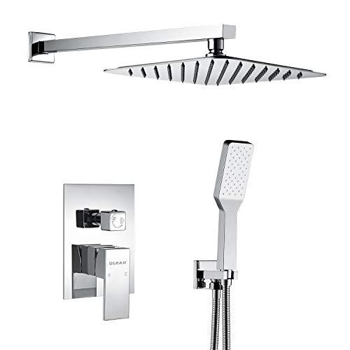 OLEAH Dual Funktionen Duschsystem Unterputz Duschset mit Duschkopf Kopfbrause Regendusche Handbrause und Armatur Duscharmatur Dusche