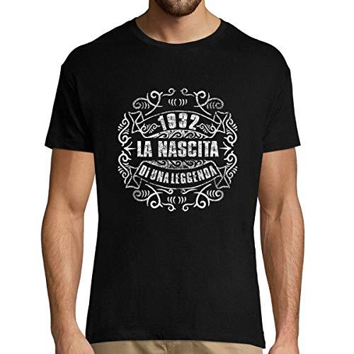 Planetee 1932 La Nascita du Una Leggenda |T-Shirt Uomo Collection Compleanno |Maglietta Umoristica XL