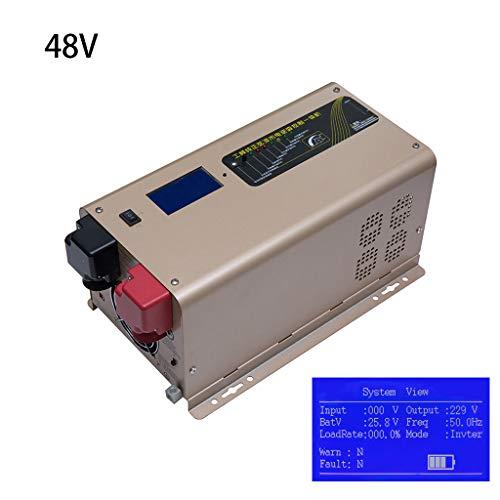 JHKJ-Inverter Off-Grid-Ladegerät für Reine Sinus-Wechselrichter, Dauerleistung 1500 W Spitzenleistung 4500 W mit LCD-Anzeige, DC 12 V 24 V 48 V zu AC 110 V 220 V Ausgangswandler,110v/1500w,48V