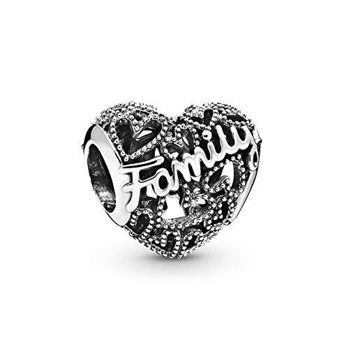 925 Plata Tía Abalorios Familia Corazón Encantos Moda Mujer Pandora Pulsera Y Brazalete Regalo Diy Joyería Regalo De Vacaciones Para Novia