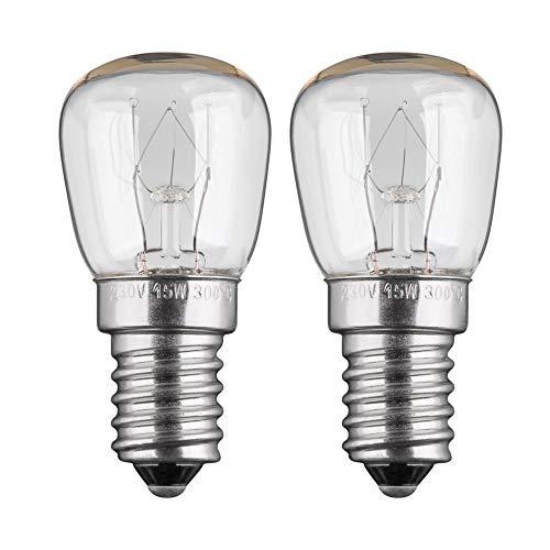 2x Backofenlampe | 15W | E14 | 230V | 2200 K | warm-weiß | Birne Lampe Glühbirne Glühlampe Leuchtmittel für Backofen Backofenglühbirne | warmweiß | 2 Stück