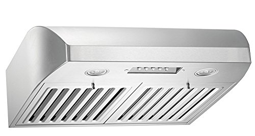 FDLUM70ISS-2R 70″ Lumen Island 175 – Right Chimney Hood with 500 CFM  AISI 304 Stainless Steel  Perimeter Suction  Electronic Control  Metallic