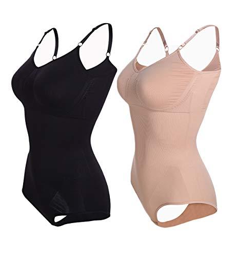 SLIMBELLE® Mujer Bodies Moldeadores Lencería Moldeadora Faja sin Costuras Body Reductor Abdomen Adelgazante Corsé Bodysuit Shapewear