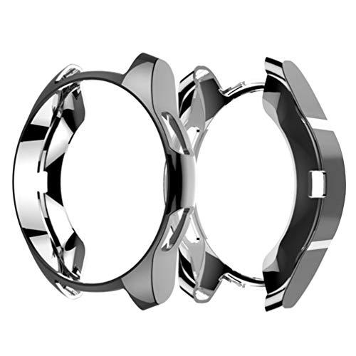 Hemobllo kompatibel mit Samsung smart Watch 42mm weiches TPU stoßfest rundum Schutz stoßstangenkoffer uhrenschutz rahmenabdeckung für samsunggear s3 (grau)