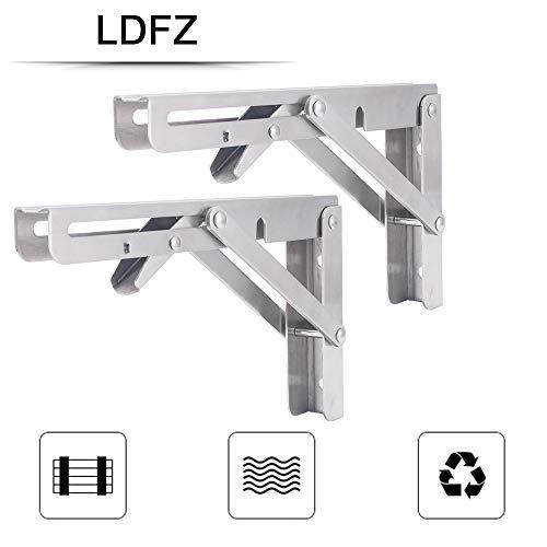 LDFZ Heavy Duty roestvrij staal inklapbare beugel voor ruimtebesparende DIY beugel voor magnetron ondersteuning