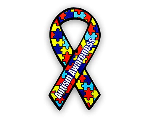 Fundraising For A Cause | Large Autism Ribbon Car Magnets - Asperger's Autism Awareness Puzzle Magnets (15 Magnets)