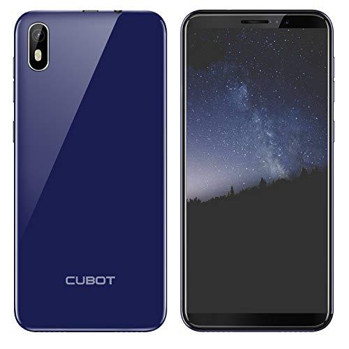 Smartphone CUBOT J5 Teléfono Móvil Doble SIM 5.5 Pulgadas Pantalla Táctil Capacitiva, Android 9.0 Smartphone, 16G ROM Moviles Libre, 2800mAh Batería, Procesador Cuatro Núcleos,Identificación de Cara