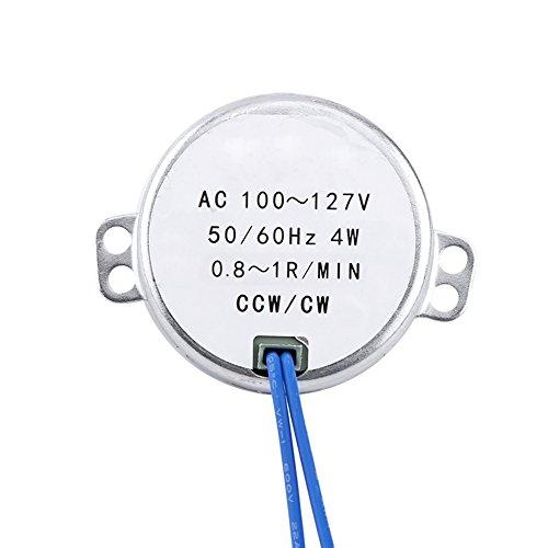 Motor Alupre, 1pc AC 100-127V 4W Motor síncrono 50/60Hz CCW/CW Motorreductor(0.8-1RPM)