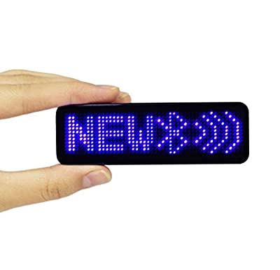 VBLab 18 Hours Wireless Bluetooth LED Name Badge Rechargeable Led Name Sign (Blue Pro Version)