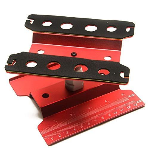 Redcolourful Arbeitsstand Reparatur Workstation 360 Grad-umdrehung Lift/Lower Arbeitsbühne Für 1/8 1/10 Skala RC Autos LKW Buggies TRX4 SCX10 D90 Allgemein red for Toys Gifts