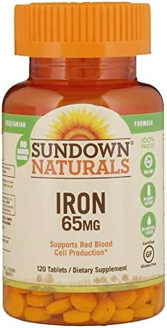 Discount is also underway Sundown Naturals Iron 120 Cash special price tabs Pack 65 mg 3 of