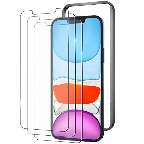 YOUMAKER Compatible with iPhone 12 Screen Protector, iPhone 12 Pro Screen Protector, Case Friendly with Installation Alignment Frame Tempered Glass Film for iPhone 12/12 Pro 6.1 Inch - 3 Packs