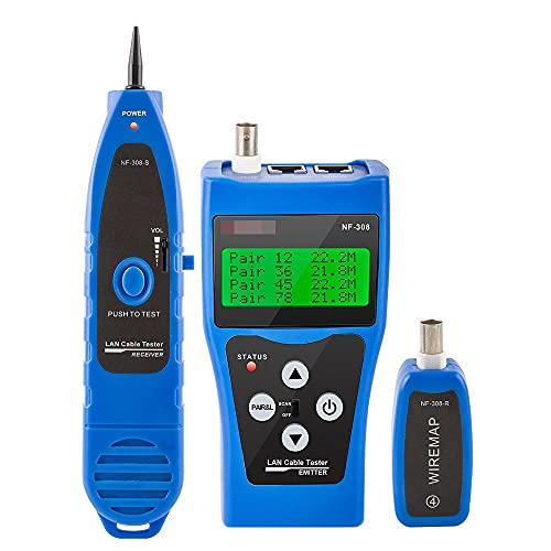 cjcaijun Ethernet Tester Red Ethernet LAN Tester Tracker Teléfono 5E 6E RJ45 11 Cable USB Cable coaxial Herramientas de Klein (Color : F-308B)