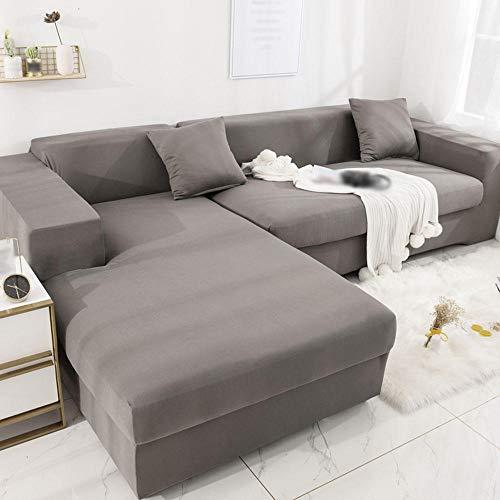 DLOK Funda de sofá Juego de sofás para Sala de Estar Juego de sofás para Mascotas Esquina Sofá Chaise Longue en Forma de L-3 Plazas: 190-230cm # 37