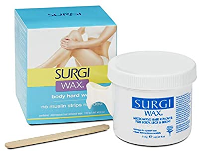 Surgi Body Hard Wax for Women - Waxing for The Whole Body - Arms, Legs, Chest, Back & More (113g) | Made with Beeswax