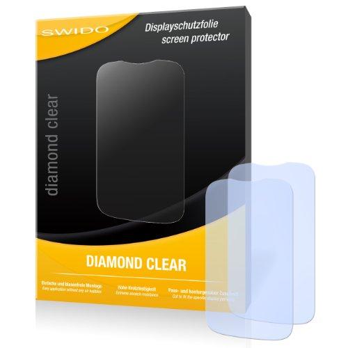 2 x SWIDO Diamond Clear Displayschutzfolie für Huawei Ascend Y201 Pro / Y-201 Pro - Displayschutz kristallklar und hartbeschichtet! PREMIUM QUALITÄT - Made in Germany
