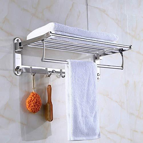 JYSXAD Estante de baño Marco de Esquina Calentador de Toallas Trípode Vidrio montado en la Pared Almacenamiento de cosméticos (Accesorios)