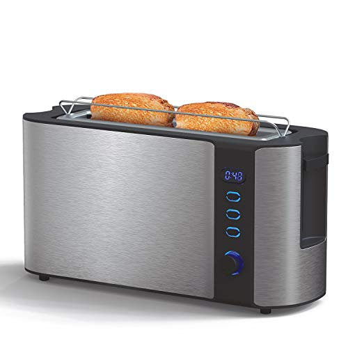 IKOHS Toast Advance Touch - Tostadora eléctrica con Pantalla Digital (Plata)