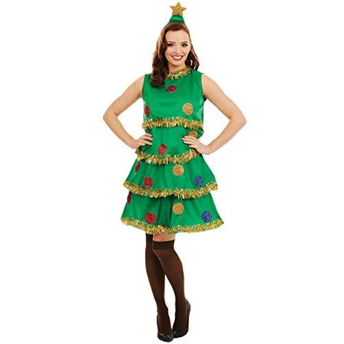 Leuke Shack FN4233S kostuum, Vrouwen, Kerst Boom Jurk, Klein