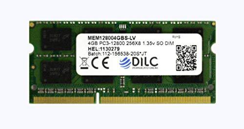 DILC RAM Sodimm DDR3 4GB PC3-12800 1600Mhz (204 Pin) 1.35v (Low Voltage) Memoria Notebook/Portatile