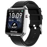 Smartwatch,Orologio Fitness Uomo Donna 1,54'' Smart Watch con Cardiofrequenzimetro da Polso Pressione Sanguigna Sonno Salute Contapassi Notifiche Messaggi,Sportivo Fitness Tracker Impermeabile IP68