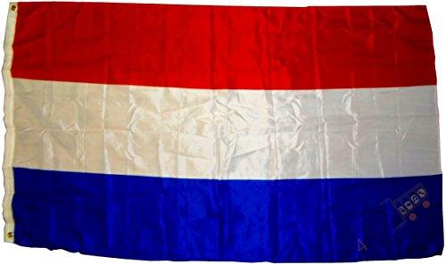 trends4cents Drapeau néerlandais de qualité supérieure - 250 x 150 cm - Extrêmement résistant à la déchirure - Poids du tissu : env. 100 g/m² - Très robuste - Œillets en laiton extra solides