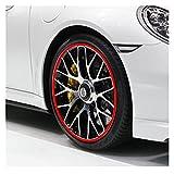 YBMY Etiqueta de llanta de Rueda de Coche Decoración de la Rueda de Cromo Decoración de neumáticos automáticos Llantas de Tira Plateada Decoración de protección de automóviles Accesorios Exteriores