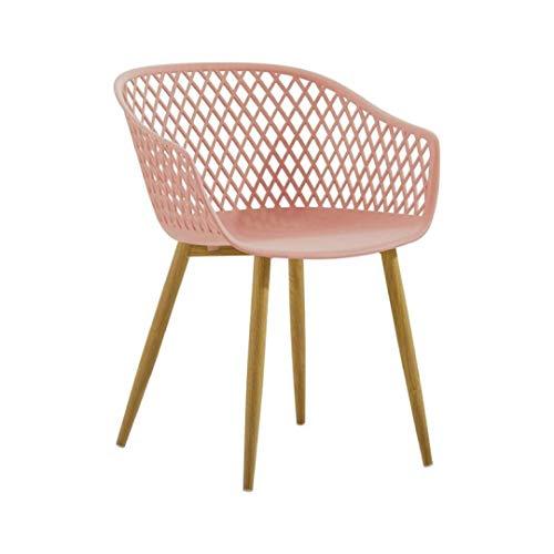 Zons 4 Tango-Stühle, Design Rosa, Füße aus Metall, Holz, X-Large