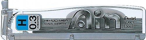 Pentel High Polymer Ain pencil Lead Rifll -0.3mm-H