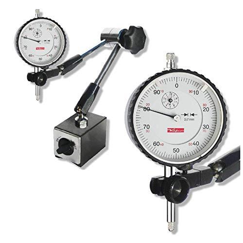 STEINLE Magnet Messstativ Zentralklemmung inkl. Käfer Messuhr im SET Messbereich 10/0,01 mm