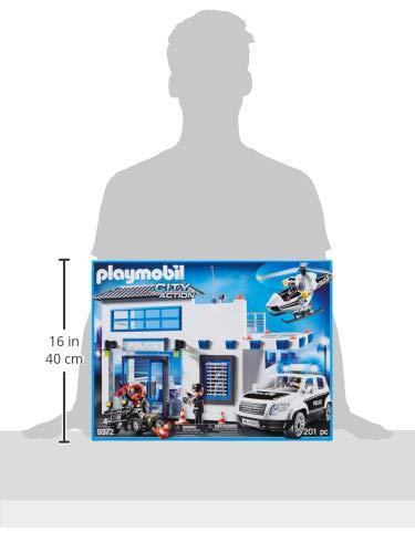 Poste de Police Playmobil 9372 Voiture Hélicoptère - 7