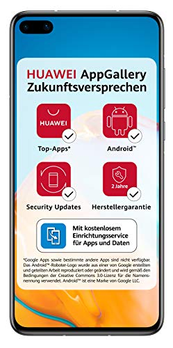 Huawei P40 Smartphone, 128 GB interner Speicher, 8 GB RAM, Silver Frost