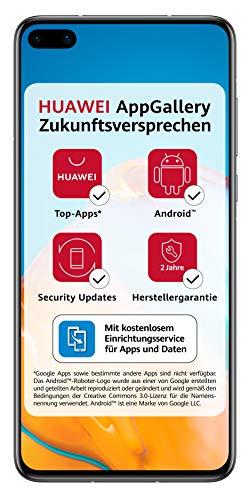 HUAWEI P40 Dual-SIM Smartphone BUNDLE (15,5 cm (6.1 Zoll), 128 GB interner Speicher, Android 10.0 AOSP ohne Google Play Store, EMUI 10.0.1) Silver Frost [+5 EUR Amazon Gutschein]