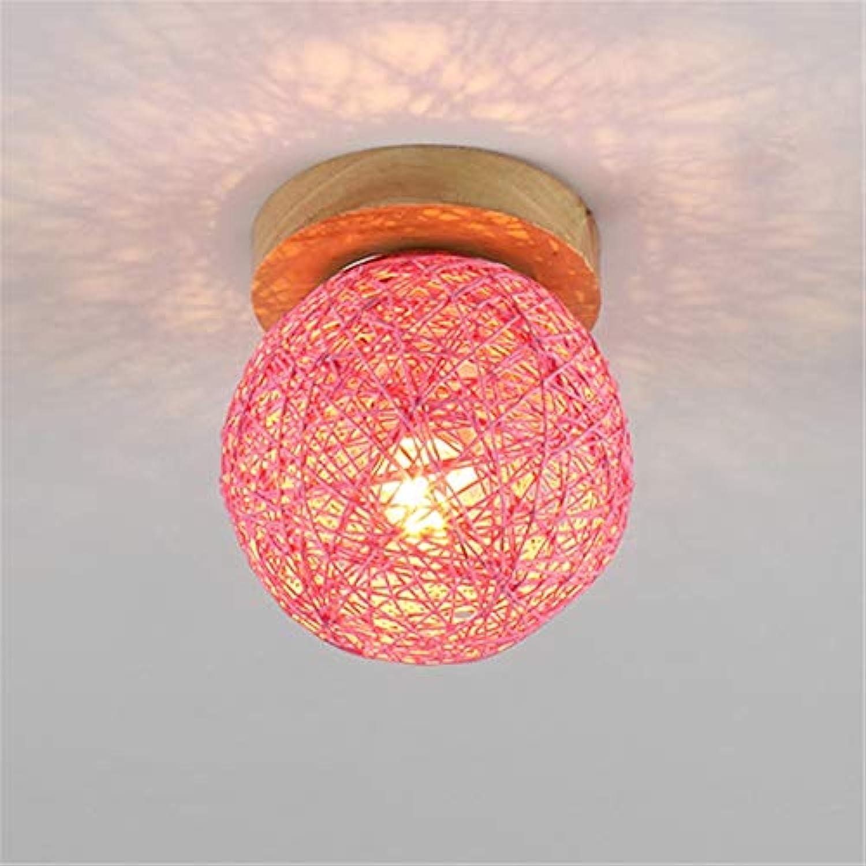 Deckenleuchten Hanf Ball Deckenleuchte Rattan Ball Kreative Retro Restaurant Rattan Gewebt Lampe Persnlichkeit Bekleidungsgeschft Ins Hanfseil Rattan Ball Lampe für Wohnzimmer, Schlafzimmer, Küche